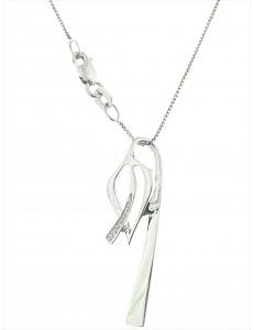Collana Donna Diamanti Oro Bianco 18 kt Carati 750 3,25 Gr 0,02Ct