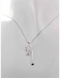 COLLANE  DIAMANTI - Collana Donna Diamanti Oro Bianco 18 kt Carati 750 3,25 Gr 0,02Ct