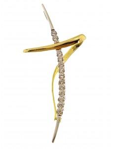 CROCI E SACRI ORO BIANCO - Ciondolo Pendente Donna Oro Bianco Giallo 18 Kt Carati Ct 750 1,75 Gr Croce