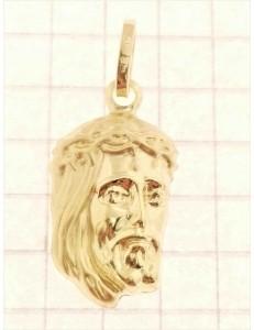CROCI E SACRI ORO GIALLO - Ciondolo Pendente Uomo Donna Oro Giallo 18 Kt Carati Ct 750 0,95 Gr Volto Cristo