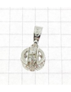 PENDENTI ORO BIANCO - Ciondolo Pendente Donna Ragazza Oro Bianco 18 Kt Carati Ct 750 2,0 Gr