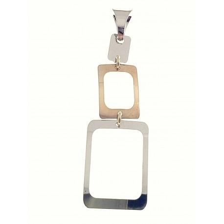PENDENTI ORO BIANCO - Ciondolo Pendente Donna Ragazza Oro Bianco Giallo 18 Kt Carati Ct 750 1,60 Gr