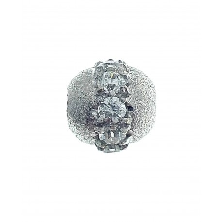 PENDENTI ORO BIANCO - Ciondolo Pendente Donna Ragazza Oro Bianco 18 Kt Carati Ct 750 2,05 Gr Zirconi