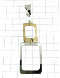 COLLANE ORO BIANCO - Collana Catenina Veneziana Donna Oro Bianco Giallo 18 Kt Carati 750 2,40 Gr