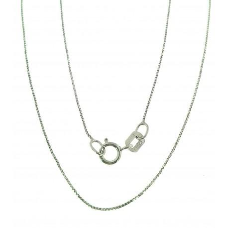 COLLANE UNISEX - Collana Veneziana Oro Bianco 18 Kt 750  45 Cm