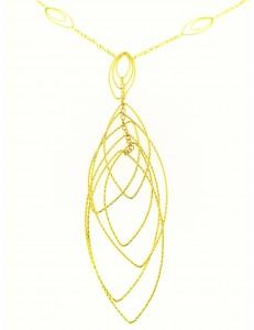 COLLANE ORO GIALLO - Collana Girocollo Collier Donna Oro Giallo 18 kt Carati Ct 750 11,10 Gr