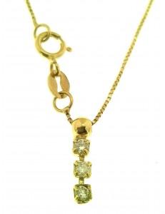 COLLANE ORO GIALLO - Collana Catenina Donna Trilogy Oro Giallo 18 kt Carati Ct 750 Con Zirconi Gr1,55