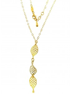 COLLANE ORO GIALLO - Collana Collier Girocollo Donna Oro Giallo Bianco 18 Kt Carati Ct 750 5,60 Gr