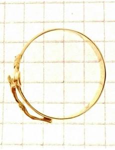 Anello Croce Uomo Donna Unisex Oro Giallo 18 kt Carati Ct 750 2,85 Gr