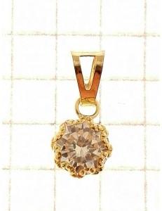 PENDENTI ORO GIALLO - Ciondolo Pendente Donna Oro Giallo 18 Kt Carati Ct 750 0,55 Gr Punto Luce