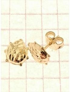 Home - Orecchini Oro Giallo 18 kt Carati Ct 750 1,10 Gr Coccinella Donna Bimba Bambina