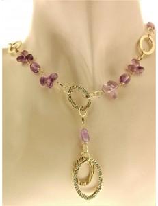 COLLANE ORO GIALLO - Collana Girocollo Collier Donna Oro Giallo 18 KT Carati Ct 750 7,60 Gr