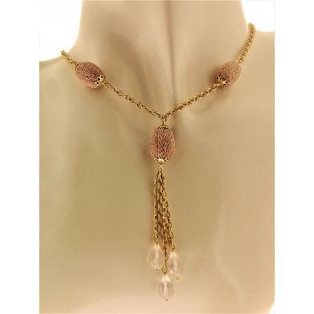 COLLANE ORO GIALLO - Collana Girocollo Collier Donna Oro Giallo 18 Kt Carati Ct 750 20,0 Gr