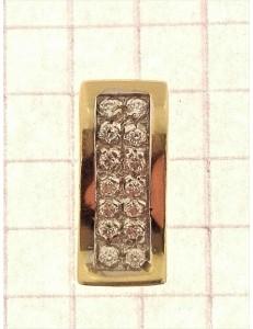 COLLANE ORO GIALLO - Collana Catenina Pendente Donna Oro Giallo Bianco 18 Kt Carati Ct 750 2,55 Gr