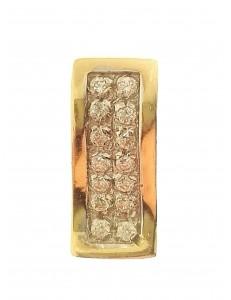 Ciondolo Pendente Donna Oro Giallo 18 Kt Carati Ct 750 1,90 Gr