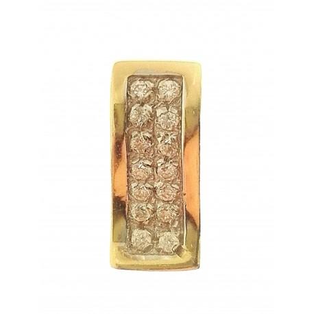 PENDENTI ORO GIALLO - Ciondolo Pendente Donna Oro Giallo 18 Kt Carati Ct 750 1,90 Gr