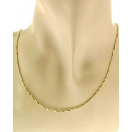 COLLANE UNISEX - Collana Catenina Veneziana Oro Giallo 18 Kt Carati Ct 750 3,6gr Uomo Donna 47 Cm
