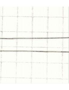 COLLANE UNISEX - Collana Catenina Uomo Donna Veneziana Oro Bianco 18 Kt Carati Ct 750 0,80Gr 45Cm