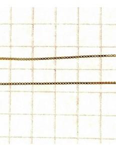 COLLANE UNISEX - Oro Giallo 18 Kt Carati Ct 750 1,20Gr Collana Catenina Uomo Donna Veneziana 45C/