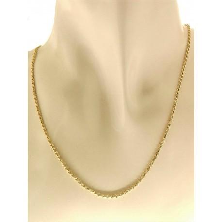 COLLANE UNISEX - Collana Catenina Uomo Donna 5,50 Gr Oro Giallo 18 kt Carati Ct 750 Funetta Piena