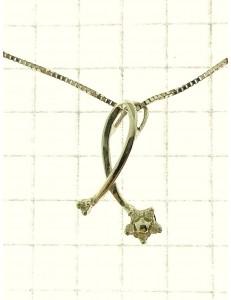 COLLANE  DIAMANTI - Collana Donna Diamanti Oro Bianco 18 kt Carati 750 COMETE GIOIELLI glb 464