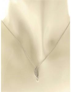 COLLANE  DIAMANTI - Collana Girocollo Donna Diamanti Oro Bianco 18 kt Carati COMETE  0,05 Ct