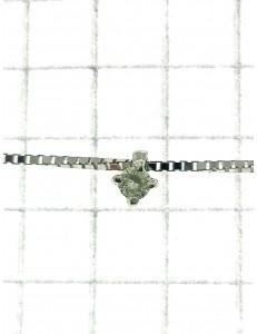 COLLANE  DIAMANTI - Collana Girocollo Donna Diamanti Oro Bianco 18 Kt Carati 750 0,04 Ct Punto Luce