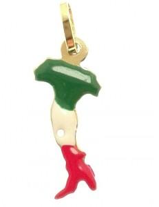 Ciondolo Pendente Italia Uomo Donna Oro Giallo 18 Kt Carati 750 1,05 Gr