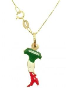 Collana Catenina 45cm Italia Uomo Donna Oro Giallo 18 kt Carati Ct 750 1,60 Gr