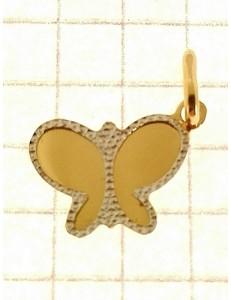 Ciondolo Pendente Farfalla Donna Oro Giallo 18 Kt Carati Ct 750 0,75 Gr