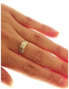 Anello Donna Oro Giallo 18 KT Carati Ct 750 Gr 2,95