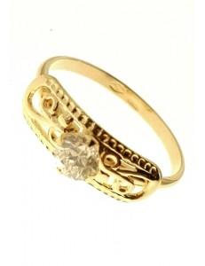Anello Donna Oro Giallo 18 kt Carati Ct 750 1,85 Gr