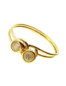 Anello Donna Oro Giallo 18 kt Carati Ct 750 2,0 Gr