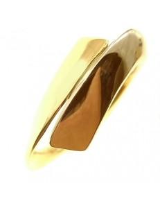 Anello Donna Oro Giallo Bianco 18 KT Carati Ct 750 Gr 5,60 Contrèe