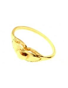 Anello Donna Ragazza Oro Giallo 18 kt Carati Ct 750 1,85 Gr