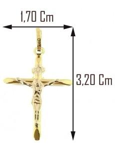 CROCI E SACRI ORO GIALLO - Ciondolo Pendente Croce Uomo Donna Oro Giallo Bianco 18 Kt Carati Ct 750 0,85Gr