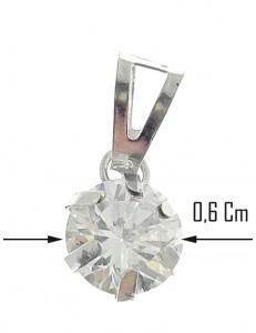 CIONDOLO PUNTO LUCE - Pendente Donna  Oro bianco 18 Kt 750