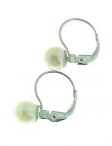 ORECCHINI PERLE MONACHINA - Monachella Oro Bianco 18 kt Carati Ct 750