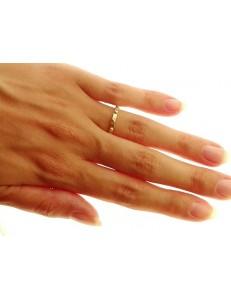 Anello Uomo Donna Oro Giallo 18 Kt Carati Ct K 750 3,20 Gr