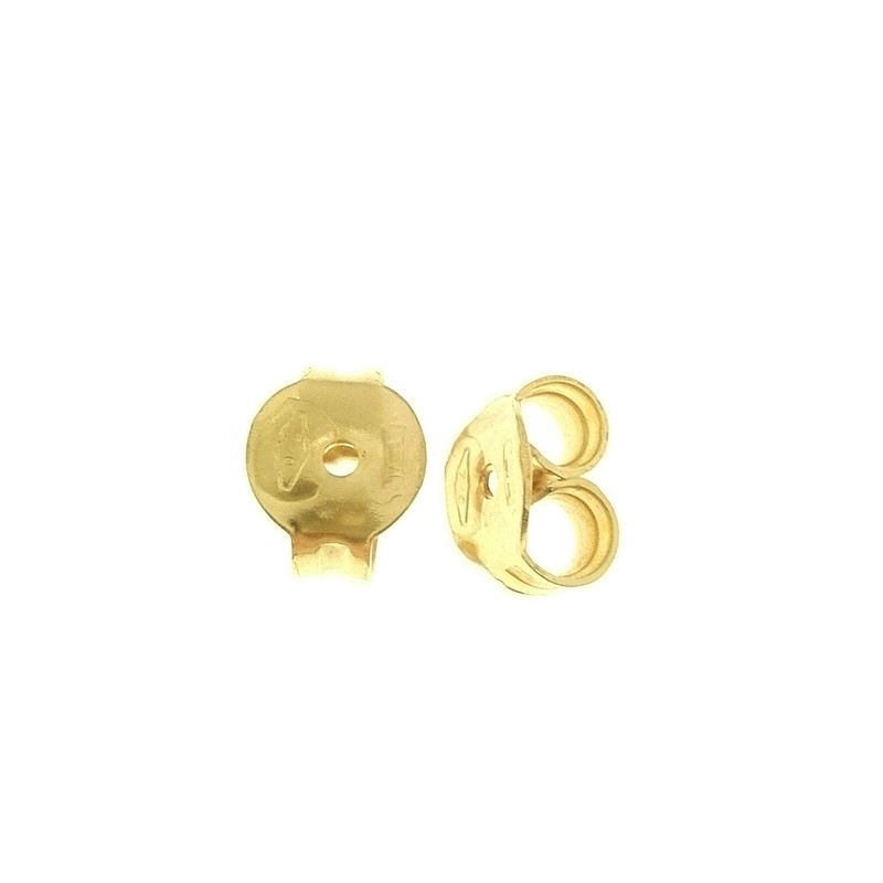fashion design prezzo imbattibile rivenditore all'ingrosso Farfalline Viti Medie Ricambio Orecchini Donna Oro 18 Kt ...