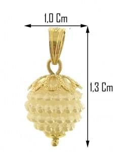 PENDENTE NESPOLINA BIANCA - Donna Oro Giallo 18 Kt Carati Ct 750