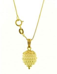 Collana Catena Nespolina Bianca Donna Oro Giallo 18 kt Carati Ct 750 1,5 Gr