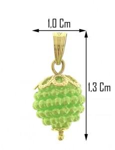PENDENTE VERDE LIME - Donna Oro Giallo 18 Kt Carati Ct 750