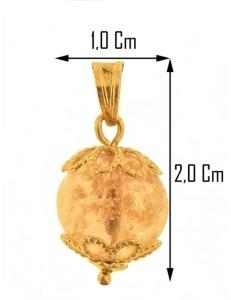 PENDENTE ROSA FOGLIA ORO - Donna Oro Giallo 18 Kt Carati Ct 750