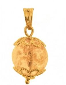 Ciondolo Pendente Cristallo Rosa Oro Donna Oro Giallo 18 Kt Carati Ct 750 1,8 Gr