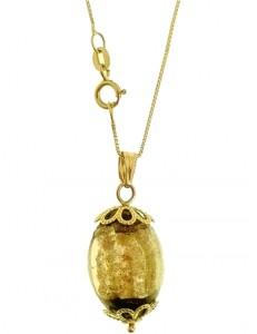 Collana Catena Cristallo Oro Donna Oro Giallo 18 kt Carati Ct 750 4,10 Gr