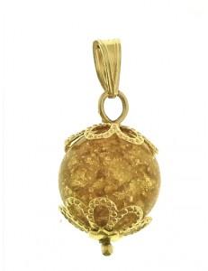 Ciondolo Pendente Foglia Oro Donna Oro Giallo 18 Kt Carati Ct 750 1,20 Gr