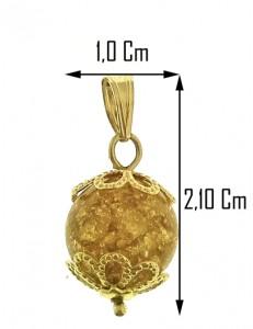 PENDENTE FOGLIA ORO - Donna Oro Giallo 18 Kt Carati Ct 750 1,20 Gr