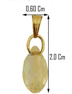 FOTO BUSTO COLLANA GOCCIA - Catenina Girocollo Croce Donna Oro Giallo 18 Kt Carati Ct 750