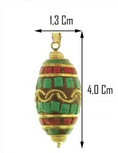 PENDENTE ETNICO - Donna Oro Giallo 18 Kt Carati Ct 750 5,2 Gr